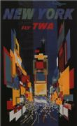 Travel poster New York, times square, TWA